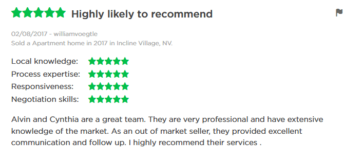 Incline Village Real Estate Agent Reviews