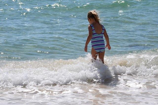 Child by the water, Panama City Beach