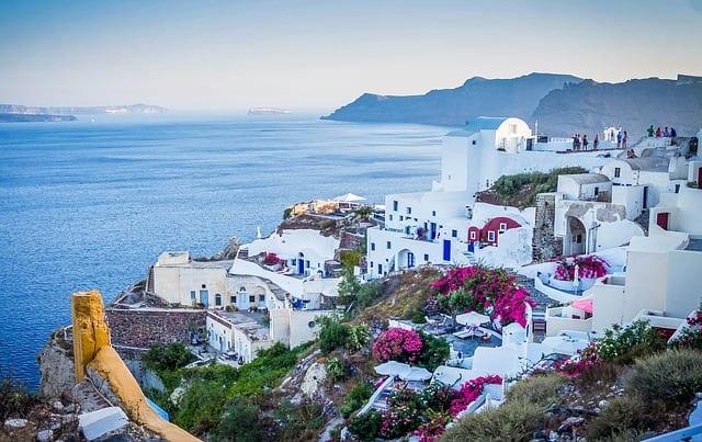 Santorini Greece, definitely not a vacation home problem